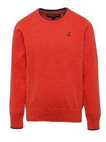 Oranžový chlapčenský sveter North Pole Kids