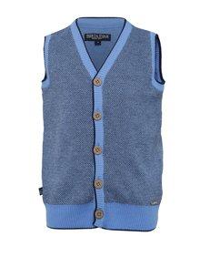 Modrá chlapčenská vzorovaná vesta North Pole Kids