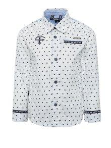 Krémová klučičí vzorovaná košile s dlouhým rukávem North Pole Kids