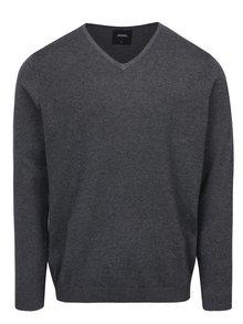 Tmavě šedý svetr s véčkovým výstřihem Burton Menswear London