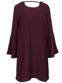 Tmavě fialové volné šaty se zvonovými rukávy VILA Brava
