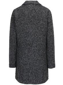 Čierny melírovaný kabát Jacqueline de Yong Olivia