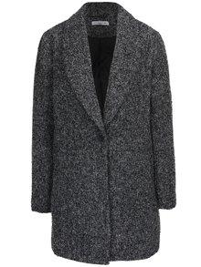 Černý žíhaný kabát Jacqueline de Yong Olivia