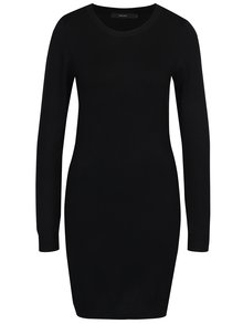 Rochie neagră lungă cu aspect de pulover VERO MODA Glory