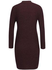 Rochie bordo cu textură de pulover Jacqueline de Yong Mei
