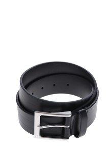 Čierny kožený opasok so vzorom Burton Menswear London