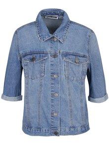 Modrá džínová bunda s krátkým rukávem Noisy May Mino