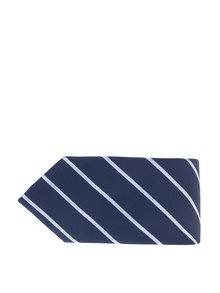 Tmavě modrá pruhovaná kravata Burton Menswear London
