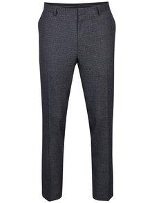 Šedé žíhané oblekové skinny kalhoty Burton Menswear London