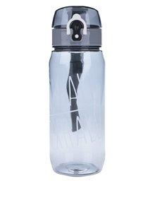 Šedá lahev na vodu s uzamykacím systémem Loooqs Inhale Exhale