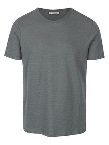 Zelené pruhované tričko Selected Homme Daryl