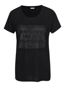 Černé tričko s potiskem Jacqueline de Yong Ball