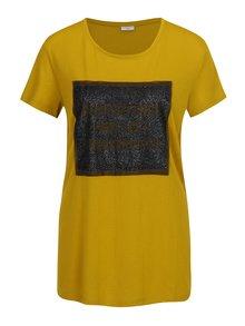 Tricou galben cu print  - Jacqueline de Yong Ball