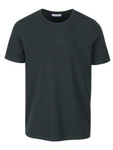 Modro-zelené pruhované tričko Selected Homme Tamos