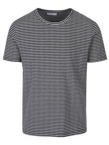 Černo-šedé pruhované tričko Selected Homme Tamos