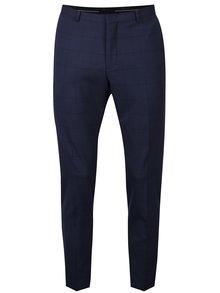 Tmavě modré kostkované oblekové kalhoty Selected Homme Done Mylo