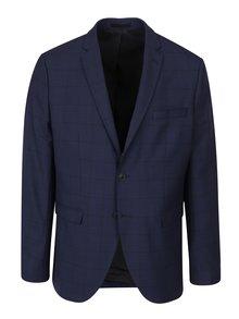 Tmavě modré kostkované oblekové sako Selected Homme Done Mylo