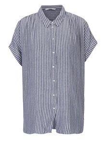 Krémovo-modrá pruhovaná volná košile ONLY Prime