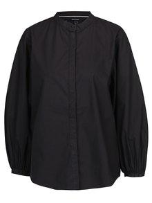 Černá košile s 3/4 balónovým rukávem VERO MODA Thea