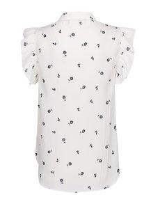 Bluză crem cu imprimeu floral și volane - VERO MODA Adriana