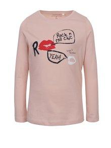 Světle růžové holčičí tričko s potiskem name it Veen