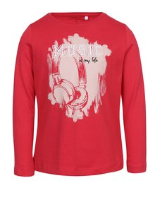 Červené dievčenské tričko s potlačou name it Vix