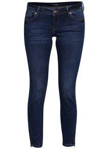 Tmavě modré zkrácené slim fit džíny s nízkým pasem VERO MODA Five