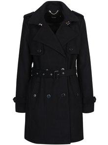 Čierny kabát s opaskom VERO MODA Quiz