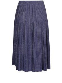 Tmavě modrá metalická plisovaná sukně VERO MODA Sia