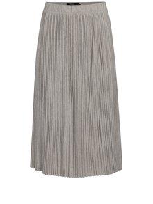 Béžová metalická plisovaná sukně VERO MODA Sia