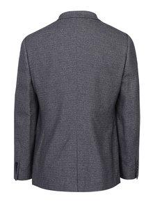 Sivé melírované oblekové skinny sako Burton Menswear London