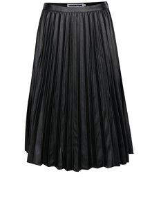 Čierna koženková plisovaná sukňa Noisy May Leanne