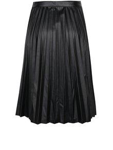 Černá koženková plisovaná sukně Noisy May Leanne
