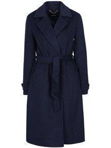 Tmavě modrý kabát s příměsí vlny VERO MODA Jess