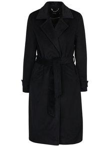 Černý kabát s příměsí vlny VERO MODA Jess