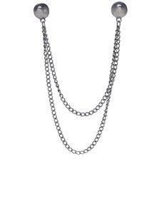 Broșă argintie pentru gulerul cămășii - VERO MODA Sisse