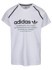 Tricou alb bărbătesc cu print adidas Originals
