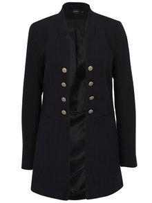 Čierne dlhé sako s ozdobnými gombíkmi ONLY Jemina