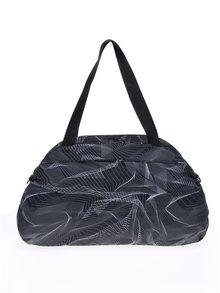 Čierna športová vzorovaná taška Nike Aura Print