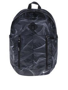 Čierny vzorovaný vodovzdorný batoh Nike Auralux