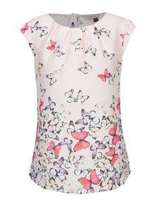 Top roz cu print fluturi și nasturi Billie & Blossom