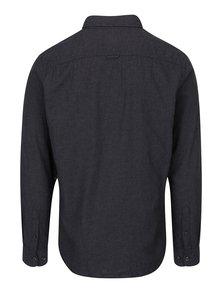 Tmavosivá slim košeľa s náprsným vreckom Jack & Jones Voakland