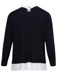 Bluză bleumarin&crem cu aspect 2 în 1  Dorothy Perkins Curve