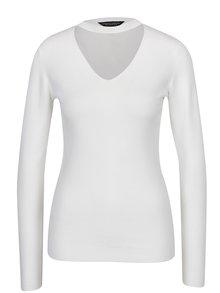 Krémový sveter s chokerom Dorothy Perkins