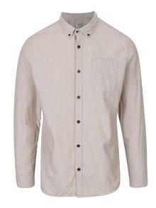 Béžová košile s náprsní kapsou Jack & Jones Voakland