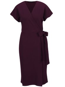 Fialové zavinovacie šaty Dorothy Perkins