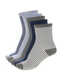 Sada pěti klučičích ponožek v khaki a šedé barvě name it Vaks