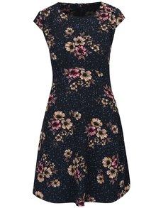 Tmavomodré kvetované šaty ONLY Candice Cup