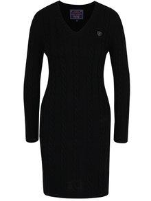 Čierne svetrové šaty s véčkovým výstrihom Jimmy Sanders