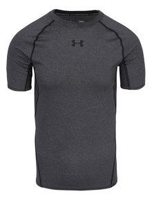 Sivé pánske funkčné tričko s krátkym rukávom Under Armour